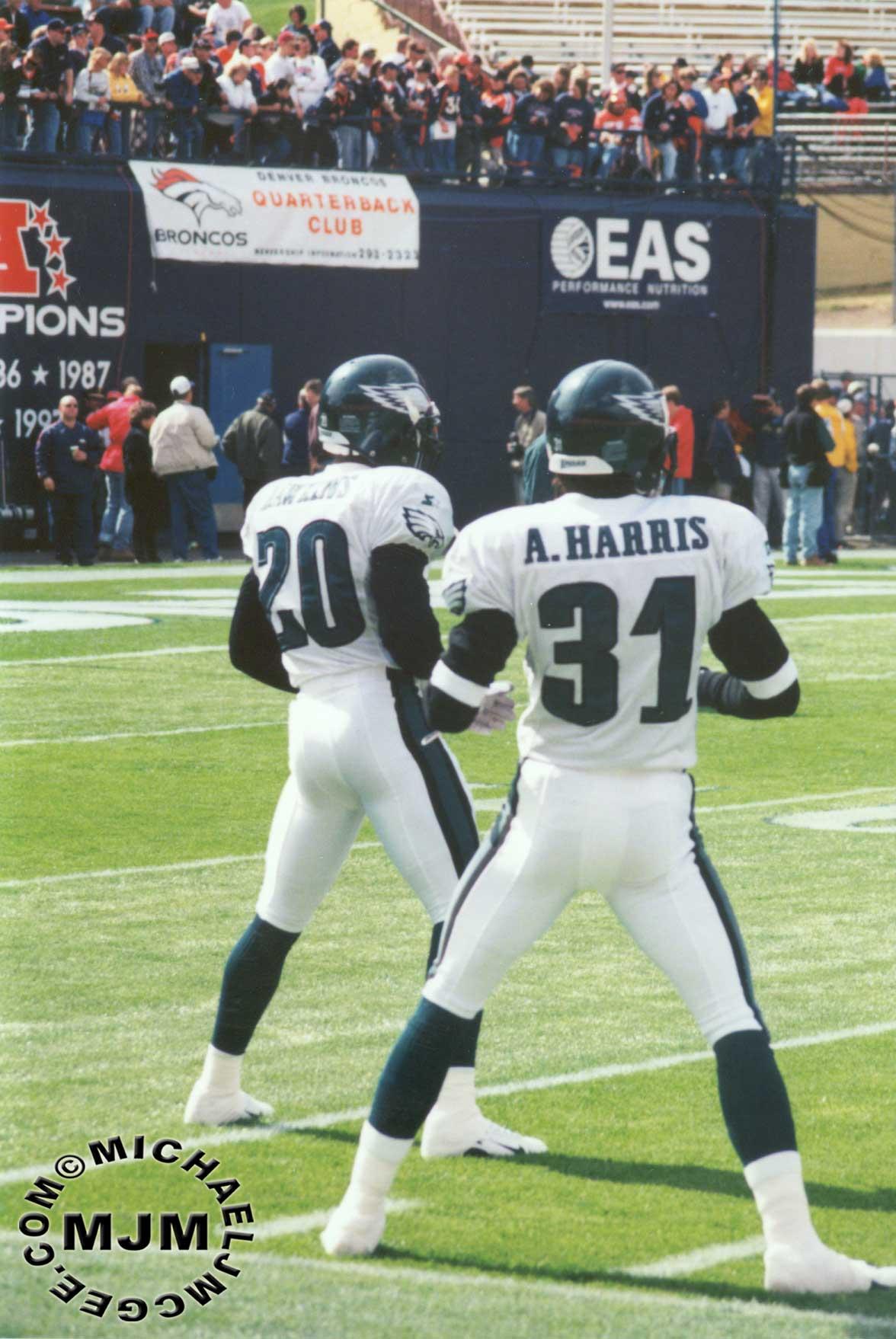 Rodney Peete Eagles Eagles @ Broncos 9/28/...